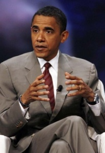 President Obama at the UNITY Convention in Chicago in July 2008.