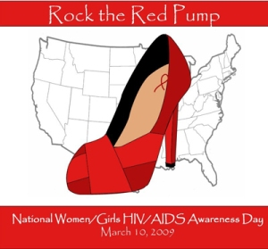 Click the Red Pump in honor of National HIV/AIDS Women/Girls Awareness Day