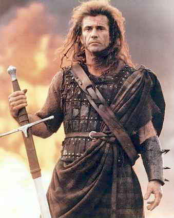 The Mel you need to be: Braveheart, minus the extensions (That's for you, Comeback... lol)