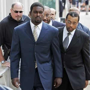 Mike Vick and his lawyer.