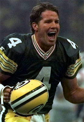 Favre when he was really happy.