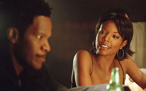 "Foxx's thoughts: ""Why did this fool write that I had to say this chick looks like Halle? She looks good, but she ain't Miss Berry. I'd be willing to bet some coons are gonna write a song with this same dumb premise in a few years. Just you wait."""