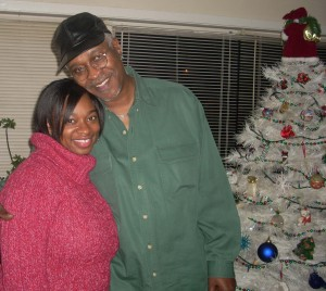 Bro. Wilfred and I during Christmas 2008 at my aunt's house. Yep, she has a white Christmas tree. And, yep, it rotates.