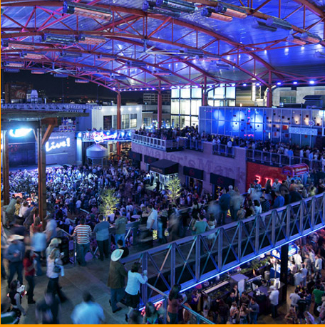 The KC Live area of Kansas City's Power & White District. Yes, it was this packed last night including more black people than the P&L will likely see for a long time.