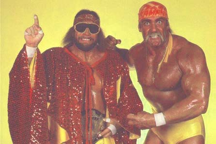 Macho Man and that guy who told the kids to say their prayers and eat their vitamins. Maybe, Hulk should have been saying that to his kids. File that under #massivefail.