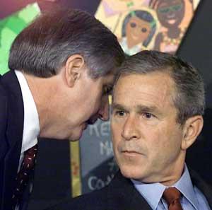 Bush gets some nation-altering news on Sept. 11, 2001.