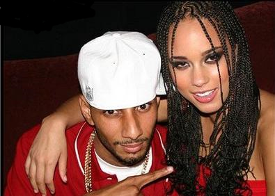 Swizz and Alicia... matching. Go figure.
